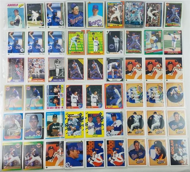 Lot Detail Lot Of 90 Nolan Ryan Baseball Cards Inc 1977 Topps