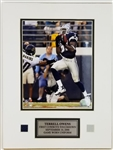 Terrell Owens Dallas Cowboys Unsigned Matted Photo Display w/ Game-Worn Uniform Piece