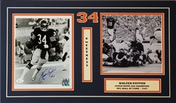 Walter Payton Signed 8x10 Photo Matted in 14x24 Display (JSA COA)