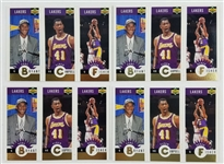 Lot of (4) Kobe Bryant Los Angeles Lakers 1996 Upper Deck Mini Rookie Basketball Card #L1