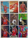 Lot of (9) Rasheed Wallace Washington Bullets 1995 Rookie Basketball Cards