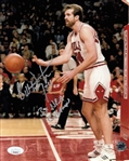 "Bill Wennington ""3x NBA Champ"" Signed Chicago Bulls 8x10 Photo (JSA COA)"