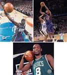 Lot of (3) Signed NBA Player 8x10 Photos - Tim Thomas, Al Jefferson, and Kurt Thomas (PSA/DNA COAs)