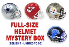 Football Superstar Signed Full Size Helmet Mystery Box - Series 7 (Limited to 50)