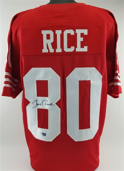 timeless design 4ab68 c43ef Lot Detail - Jerry Rice Signed San Francisco 49ers Custom ...