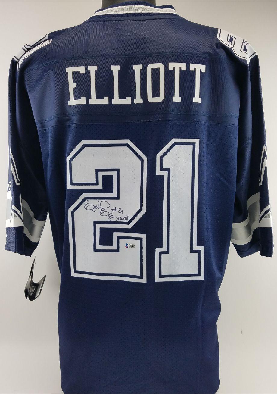 new concept 3af37 56764 Lot Detail - Ezekiel Elliott Full Name Signature Signed ...