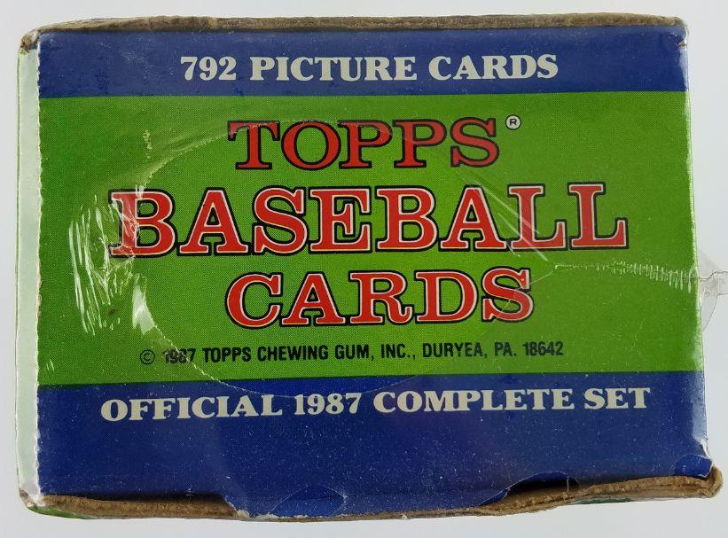 Lot Detail Sealed 1987 Topps Baseball Card Complete Set