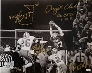 "Dwight Clark ""The Catch 1-10-82"" & Michael Downs/Everson Walls Signed Lmt Ed. San Francisco 49ers The Catch 16x20 Photo w/ Hand Drawn Play Art (JSA COA)"