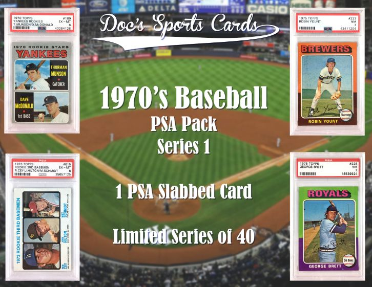 Lot Detail 1970s Psa Graded Baseball Card Mystery Pack