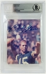 Bart Starr Signed Green Bay Packers 3.5x5 Photo (Beckett Encapsulated)