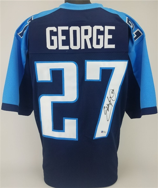 best service 7a74a bf2ab Lot Detail - Eddie George Signed Tennessee Titans Custom ...