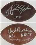Walter Payton, Dick Butkus & Mike Ditka Signed Official Wilson NFL Tagliabue Game Football (Beckett LOA)