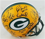 Green Bay Packers Super Bowl 31 Team Signed Lmt Ed. Full Size Authentic Helmet w/ 21 Sigs Inc. Favre, Freeman, Butler, Winters (Radtke Sports COA)