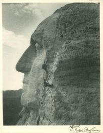 "Gutzon Borglum ""Official"" Signed Authentic Mt. Rushmore 8x10.5 Photo (PSA/DNA LOA)"