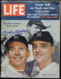 "Mickey Mantle ""No. 7"" Signed 1961 Life Magazine -Autograph Graded Gem Mint 10! (PSA/DNA LOA)"