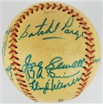 Satchel Paige & Others Signed Special League Baseball w/ 15 Signatures Inc. Banks, Waner, Conlan & More (PSA/DNA LOA)
