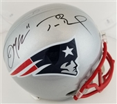 Tom Brady & Julian Edelman Dual Signed Full Size Replica New England Patriots Helmet (Beckett Witness & Tristar COAs)
