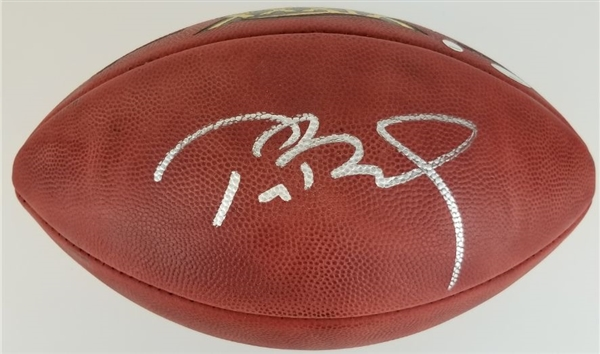 Tom Brady Signed Official Wilson NFL Super Bowl XXXIX Tagliabue Game Football (Steiner & Tristar Certified)