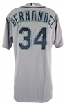 Felix Hernandez Seattle Mariners 2015 Game-Used Majestic Authentic MLB Jersey (Grey Flannel LOA)