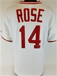 Pete Rose Signed Cincinnati Reds Majestic Cooperstown Collection MLB Jersey (Schwartz Sports COA)