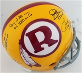 Redskins QBs Rypien, Theismann, Williams, Jurgensen & Kilmer Signed & Inscribed Full Size Replica Helmet (JSA Witness COA)