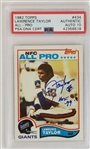"Lawrence Taylor ""HOF 99"" Signed New York Giants 1982 Topps Rookie Card #434 - Graded Gem Mint 10 Autograph! (PSA)"