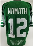 Joe Namath Signed New York Jets Custom Stat Jersey (Radtke Sports COA)