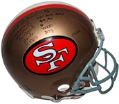 Joe Montana Signed & Multi-Inscirbed Full Size Authentic San Francisco 49ers Helmet (JSA LOA)