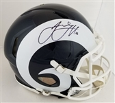Jared Goff Signed Full Size Authentic Proline Los Angeles Rams Speed Helmet (Fanatics Certified)
