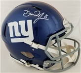 Daniel Jones Signed Full Size Authentic Proline New York Giants Speed Helmet (Beckett Witness COA)