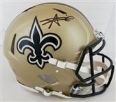 Alvin Kamara Signed Full Size Authentic Proline New Orleans Saints Speed Helmet (JSA Witness COA)