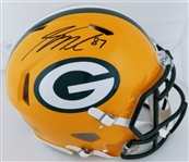 Jordy Nelson Signed Full Size Authentic Proline Green Bay Packers Speed Helmet (JSA Witness COA)