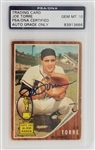Joe Torre Signed 1961 Topps #218 Milwaukee Braves Rookie Card - Autograph Graded Gem Mint 10! (PSA/DNA)