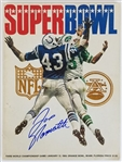 Joe Namath Signed Super Bowl III Jets/Colts Game Program (Beckett Witness COA)