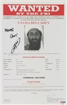"Robert ONeill (Navy SEAL Who Killed Bin Laden) ""Never Quit!"" Signed Bin Laden 8.5x13 FBI Wanted Document (PSA/DNA ITP COA)"