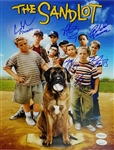 The Sandlot Cast Signed 11x14 Photo w/ 6 Sigs - Smalls, Squints, DeNunez, Ya-Ya, Tommy, Timmy