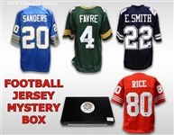 Football Superstar Signed Mystery Box Football Jersey Series 14 - (Limited to 100)