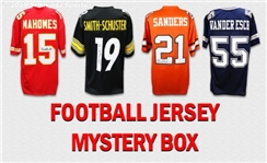 Football Superstar Signed Mystery Box Football Jersey Series 19 - (Limited to 50)
