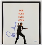 Roger Moore Signed James Bond 007 For Your Eyes Only Press Release Kit (JSA COA)
