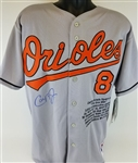 Cal Ripken Jr. Signed Lmt Ed. Baltimore Orioles Majestic 100 Seasons Patch MLB Stat Jersey (MLB Certified)