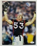 Bill Romanowski Signed Denver Broncos 8.5x11 Photo (JSA COA)
