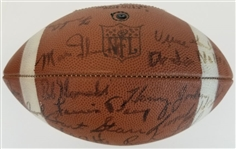Vince Lombardi, Bart Starr + 28 Others 1968 Packers Team Signed NFL Football w/ High Quality Glass Display Case (JSA LOA)