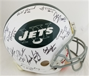 1969 New York Jets Team Signed Full Size Authentic Proline Helmet w/ 25 Sigs Inc. Namath, Boozer, Maynard, Snell (Steiner LOA)