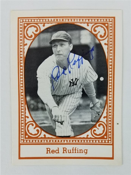 Red Ruffing New York Yankees Signed 1980 TCMA All-Time Yankees Baseball Card (JSA COA)