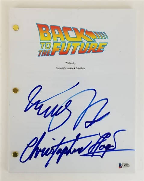 Michael J. Fox & Christopher Lloyd Signed Back to The Future Movie Script (Beckett Witness COA)