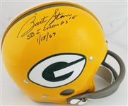 "Bart Starr ""SB I Champs 1/15/67"" Signed Lmt Ed. Full Size Replica TK Suspension Green Bay Packers Helmet (Tristar Certified)"