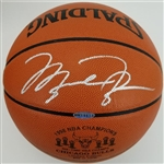 Michael Jordan Signed Lmt Ed. *1998 Bulls 6x NBA Champs* Spalding Official NBA Game Ball Basketball w/ High Quality Glass Display Case (UDA COA)