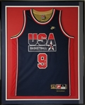 Michael Jordan Signed 1992 USA Basketball Dream Team Authentic Nike NBA Jersey Framed Display (UDA COA)