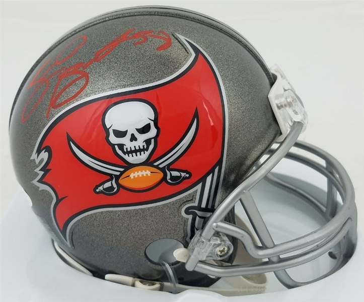 Shaquil Barrett Signed Tampa Bay Buccaneers Mini Helmet (JSA Witness COA)
