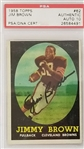 Jim Brown Signed Cleveland Browns 1958 Topps #62 Rookie Card - Auto Graded Gem Mint 10! (PSA)